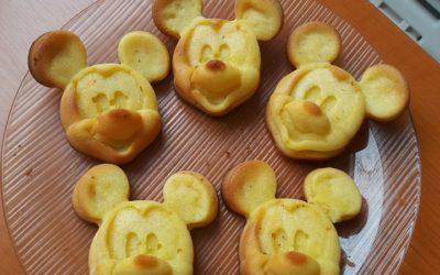Túrós Mickey muffin